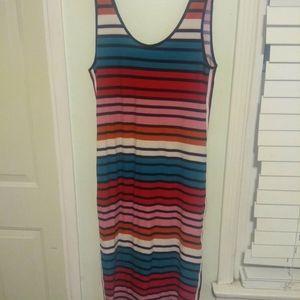Tank top multi color dress